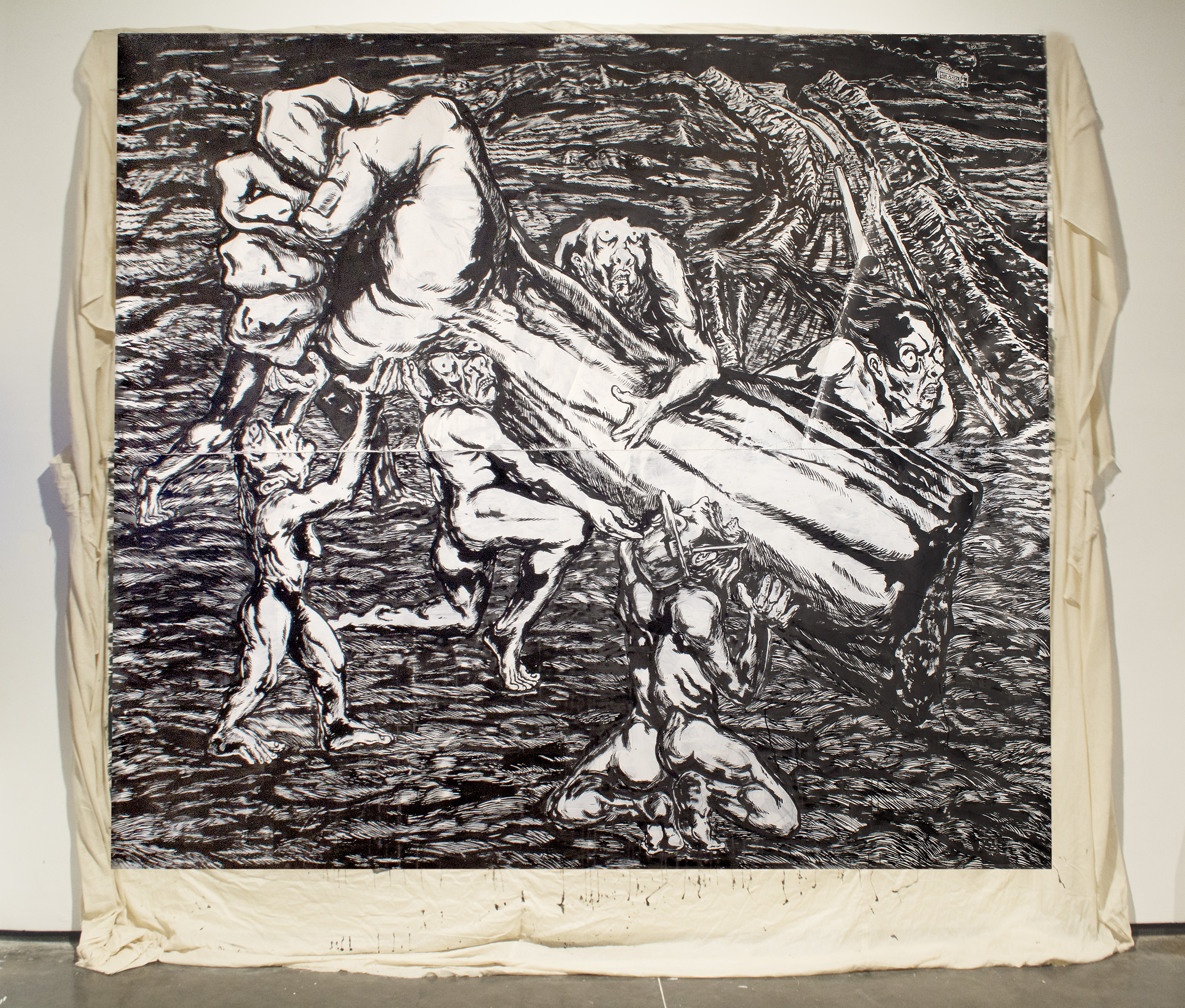 Anupam_roy__From_Resistance_Land__Gallery_Installation_View__Ink_on_paper-350gsm__acid_free__hot-press__pasted_on_cotton_cloth__120_x_156_inches__2018.jpg