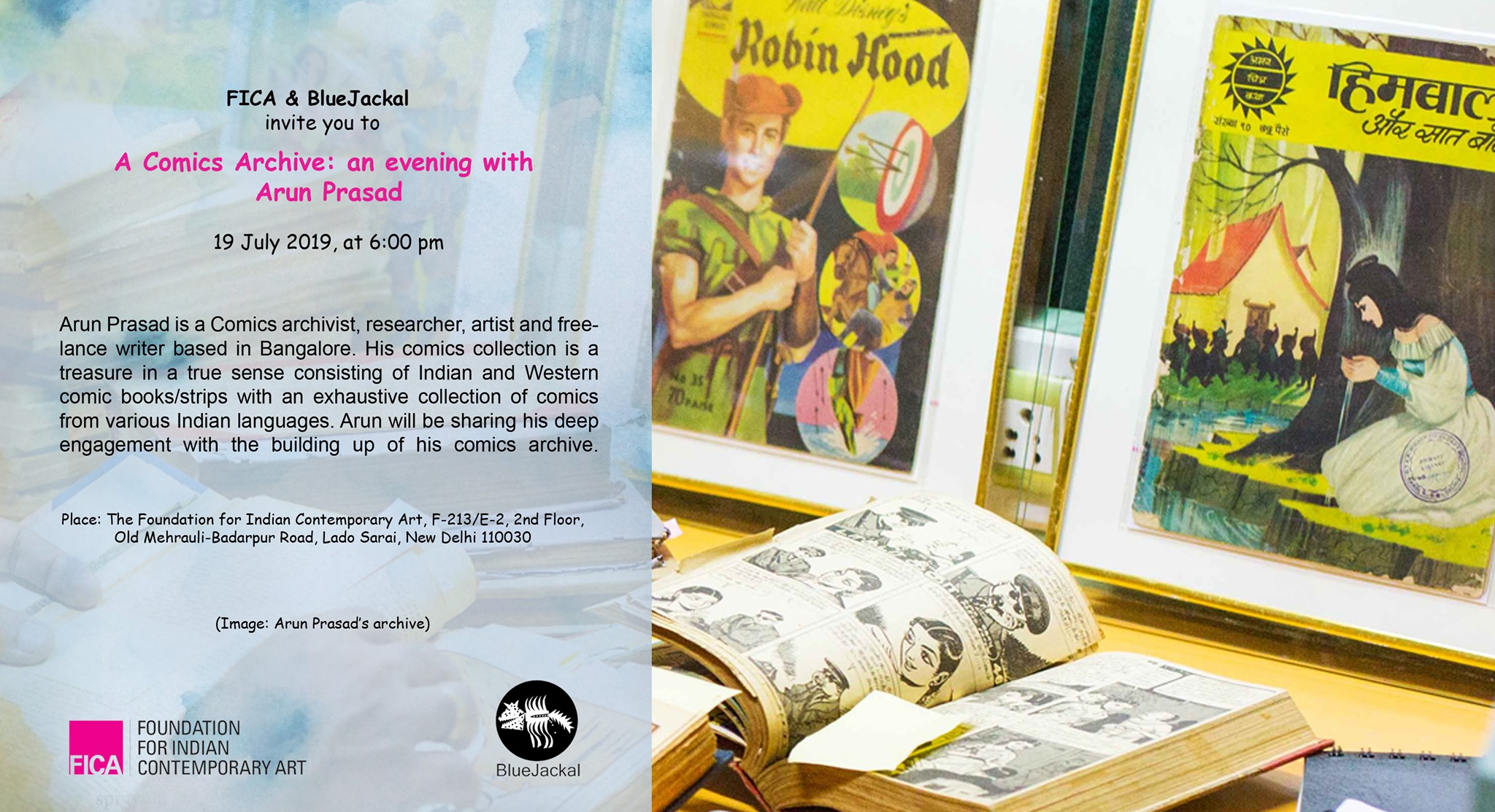 a comics archive | an evening with arun prasad 19 july 2019