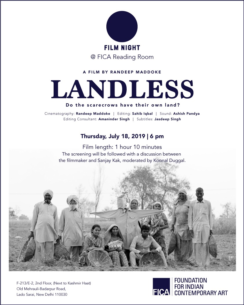 Landless by Randeep maddoke   with sanjay kak & koonal duggal film night @ Fica reading room