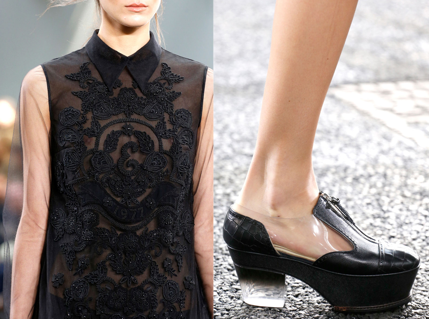 Erdem Spring 2014 sequins shoes