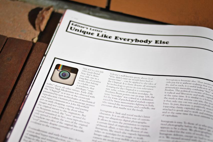 Editors letter on Instagram