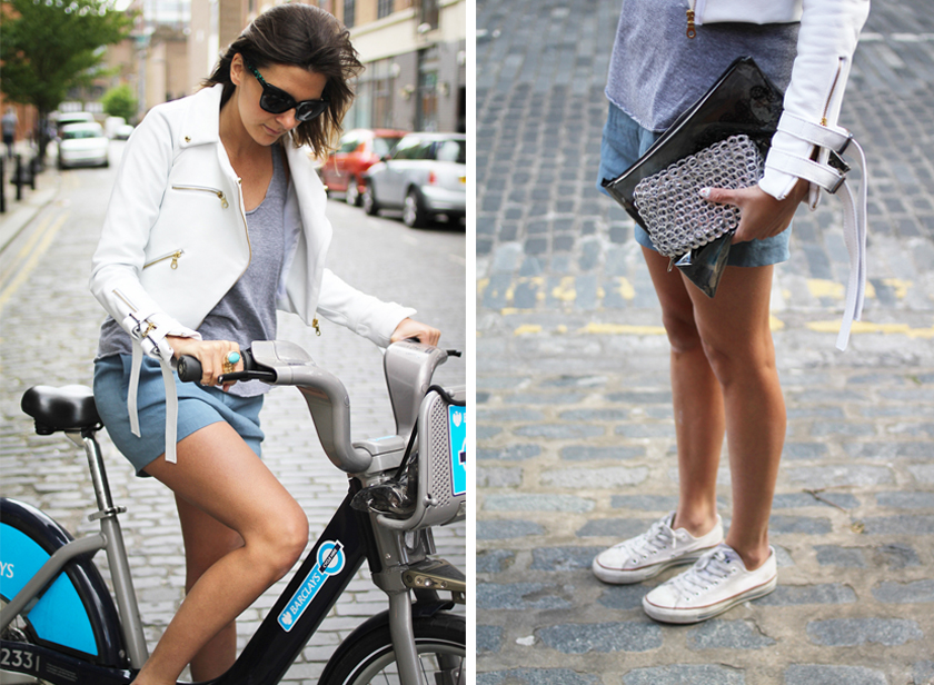 Attempting to ride a Boris Bike with the wrong clothes on...