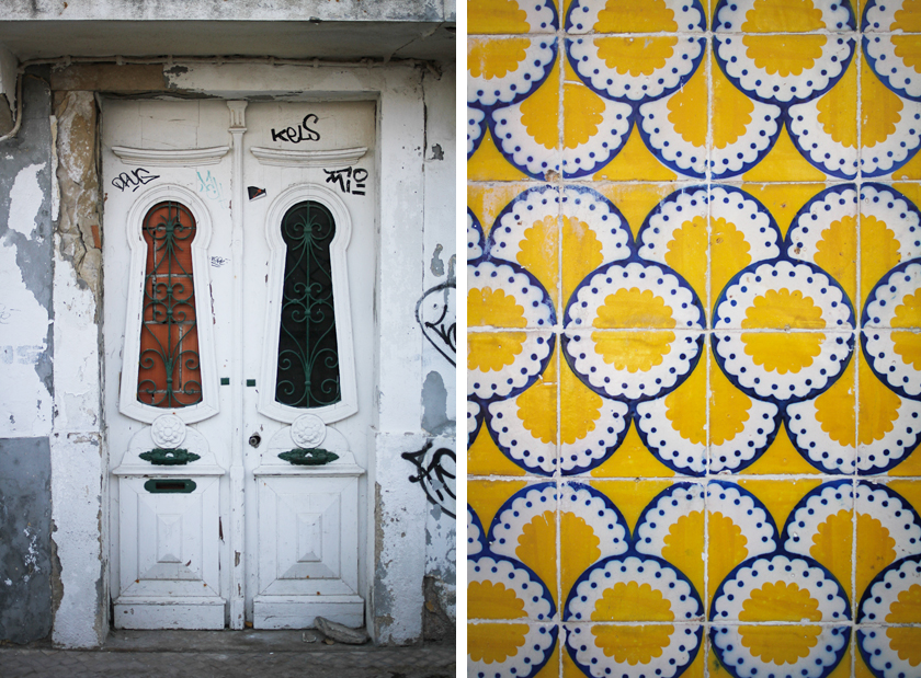 Tiles and door in Cascais