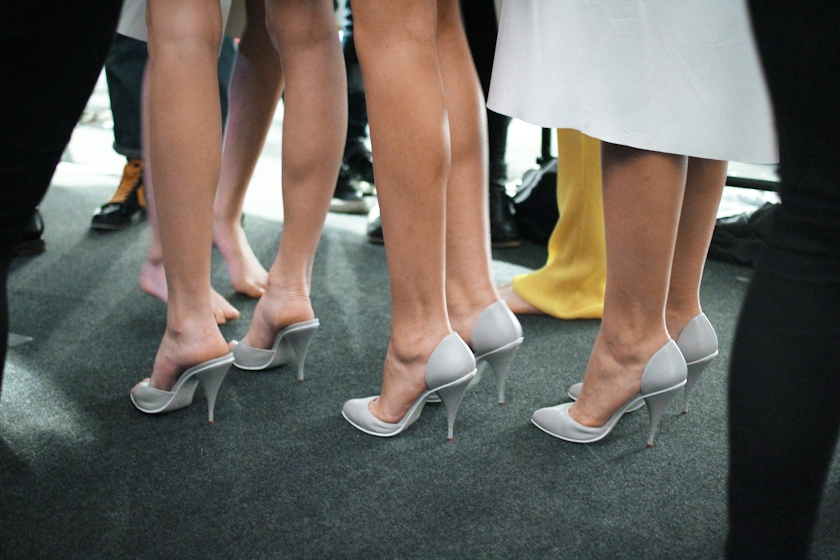 Lucas Nascimento Spring 2014 backstage shoes