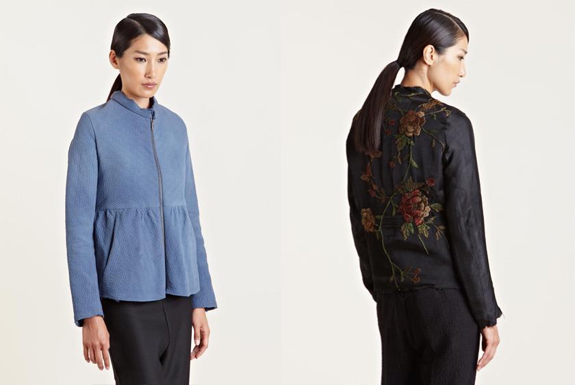 By Walid Belle Vintage Jacket  and  Silk Fur Kimono Jacket .