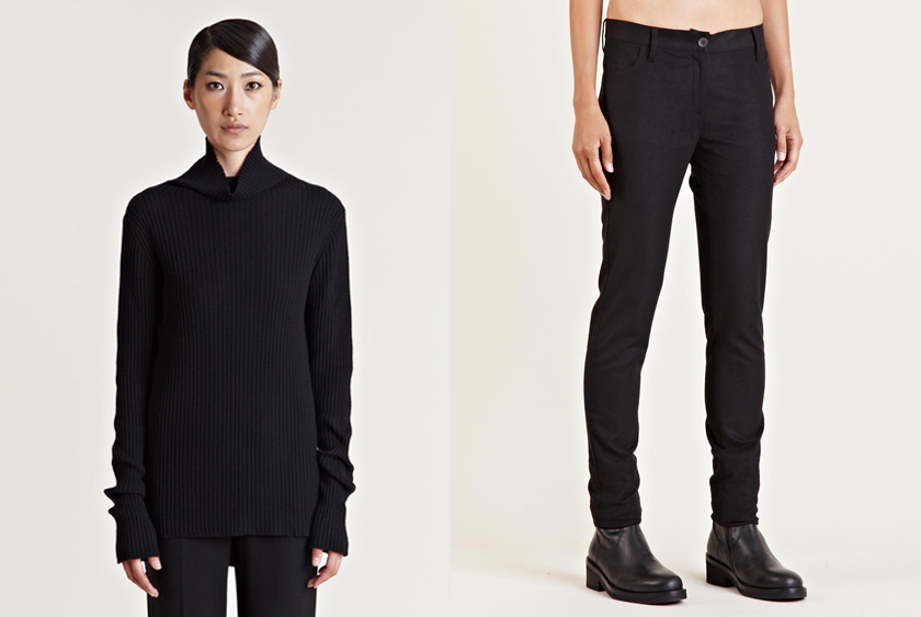 Ann Demeulemeester Raja Knit  and  Soft Visco-stretch Pants .