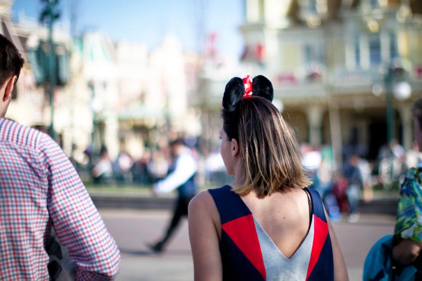 Jennifer Inglis at Disneyland Paris wearing Riyka top