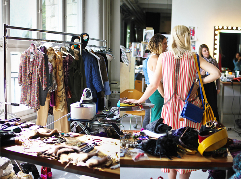 Clothes at the eBay shoot