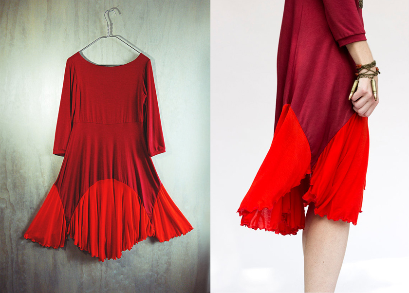 Red Poppy dress by Katastrophic design