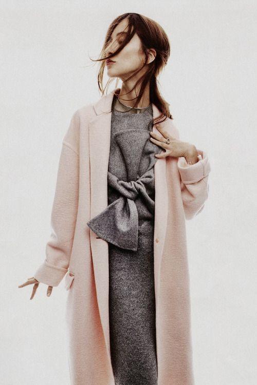 Celine grey tie front dress
