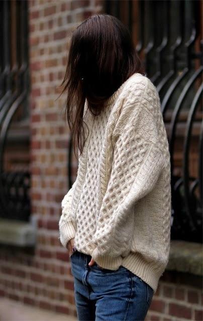Big cream knit