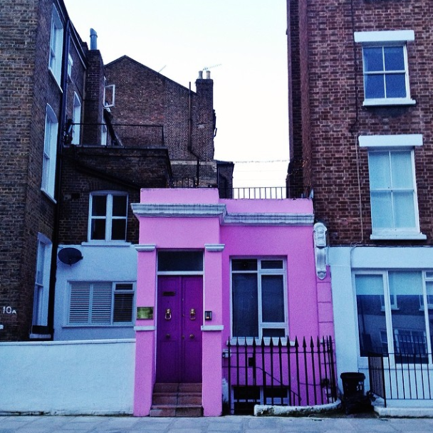 Pink flat in London