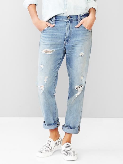 Gap 1969 destroyed authentic boyfriend jeans