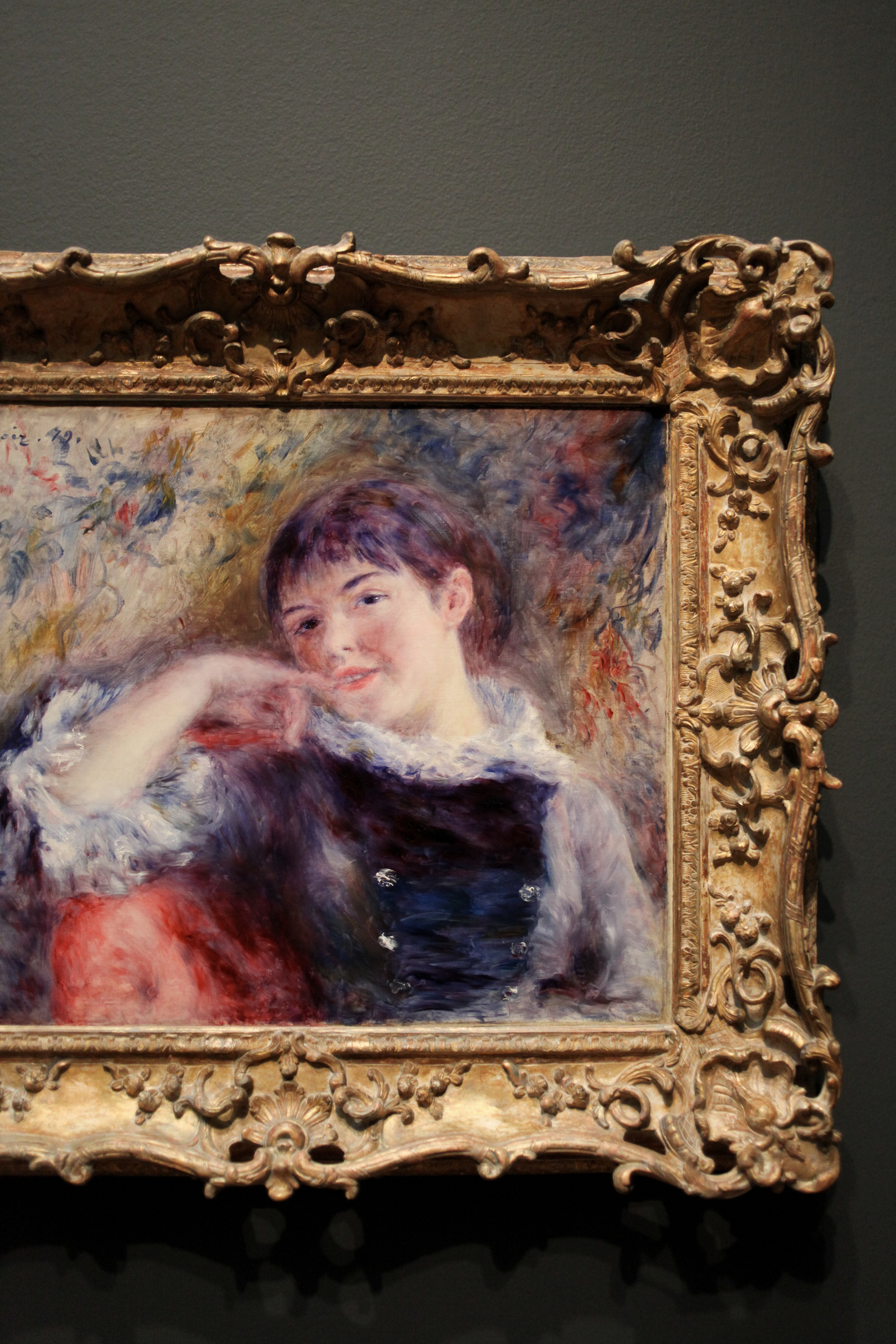 Pierre-Auguste Renoir - The Dreamer - oil on canvas