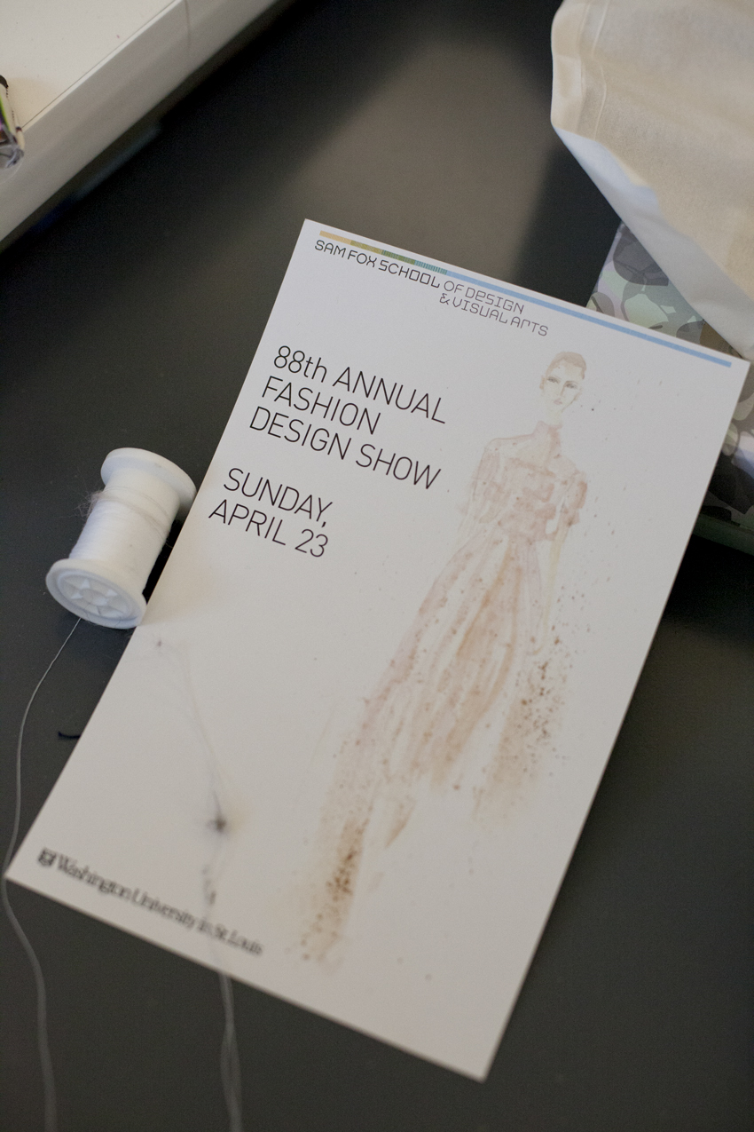 Sam Fox School 88th Annual Fashion Design Show Flyer
