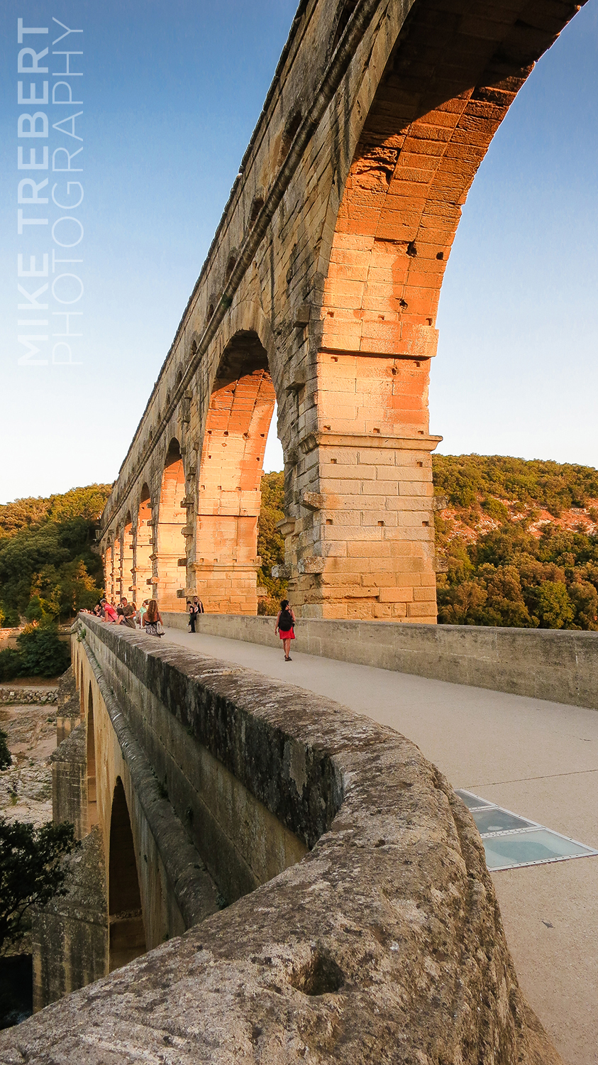Sunset at Pont Du Gard, southern France.