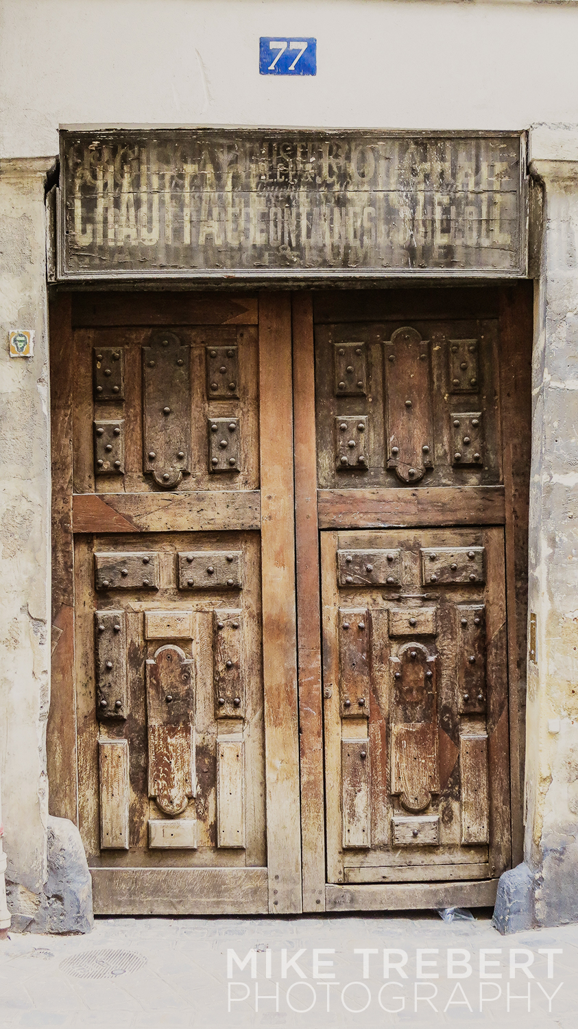 Ancient doorway in The Marais, Paris