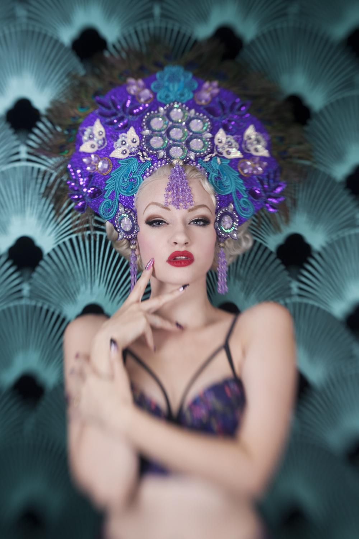 SINderella Rockafella wearing Peacock