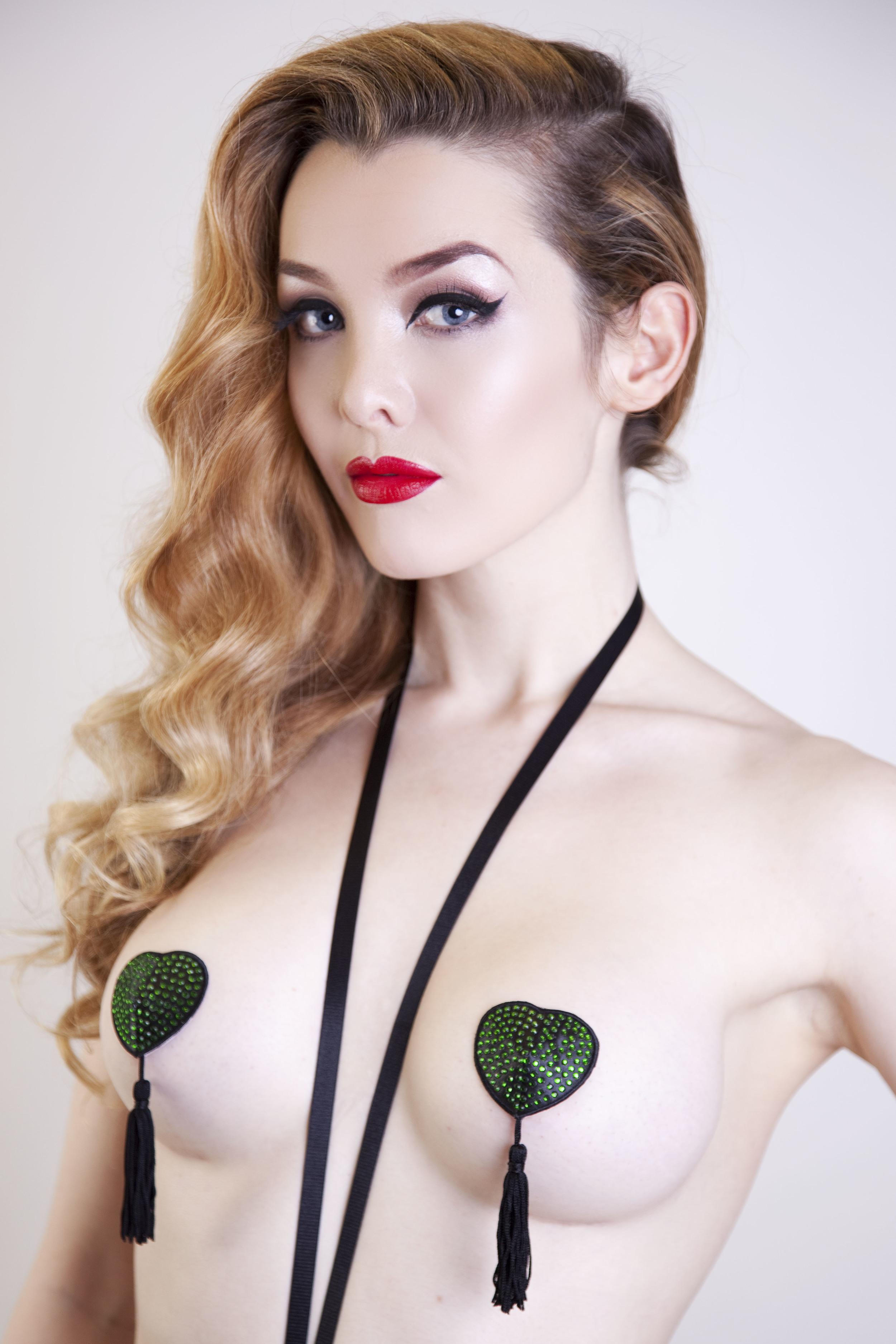 Turquoise shell nipple tassels