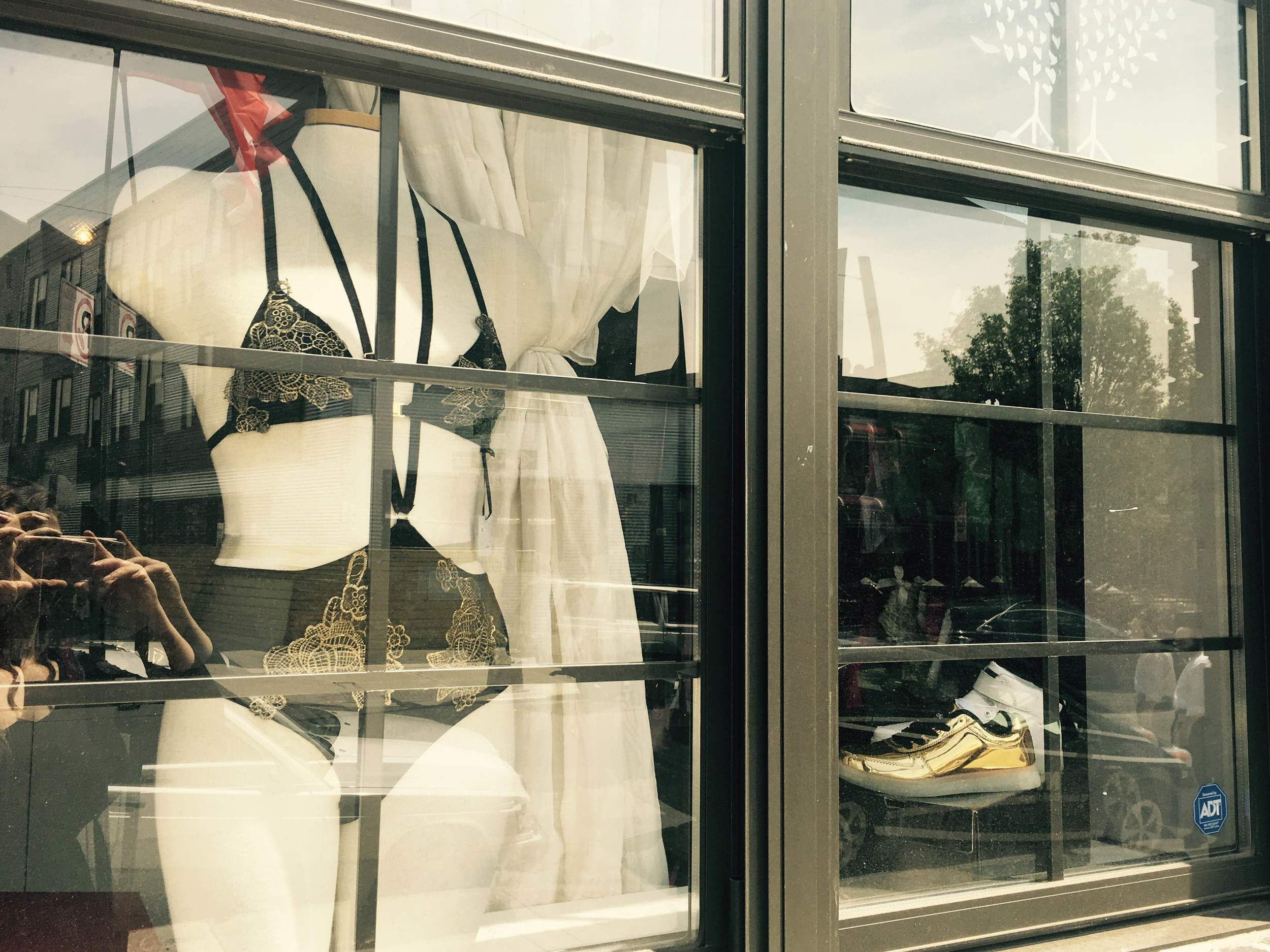 The Hope set taking pride of place in the shop window!