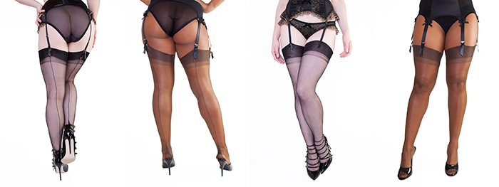 Our Fully Fashioned Stocking collection, in  Black  and  Chocolate !