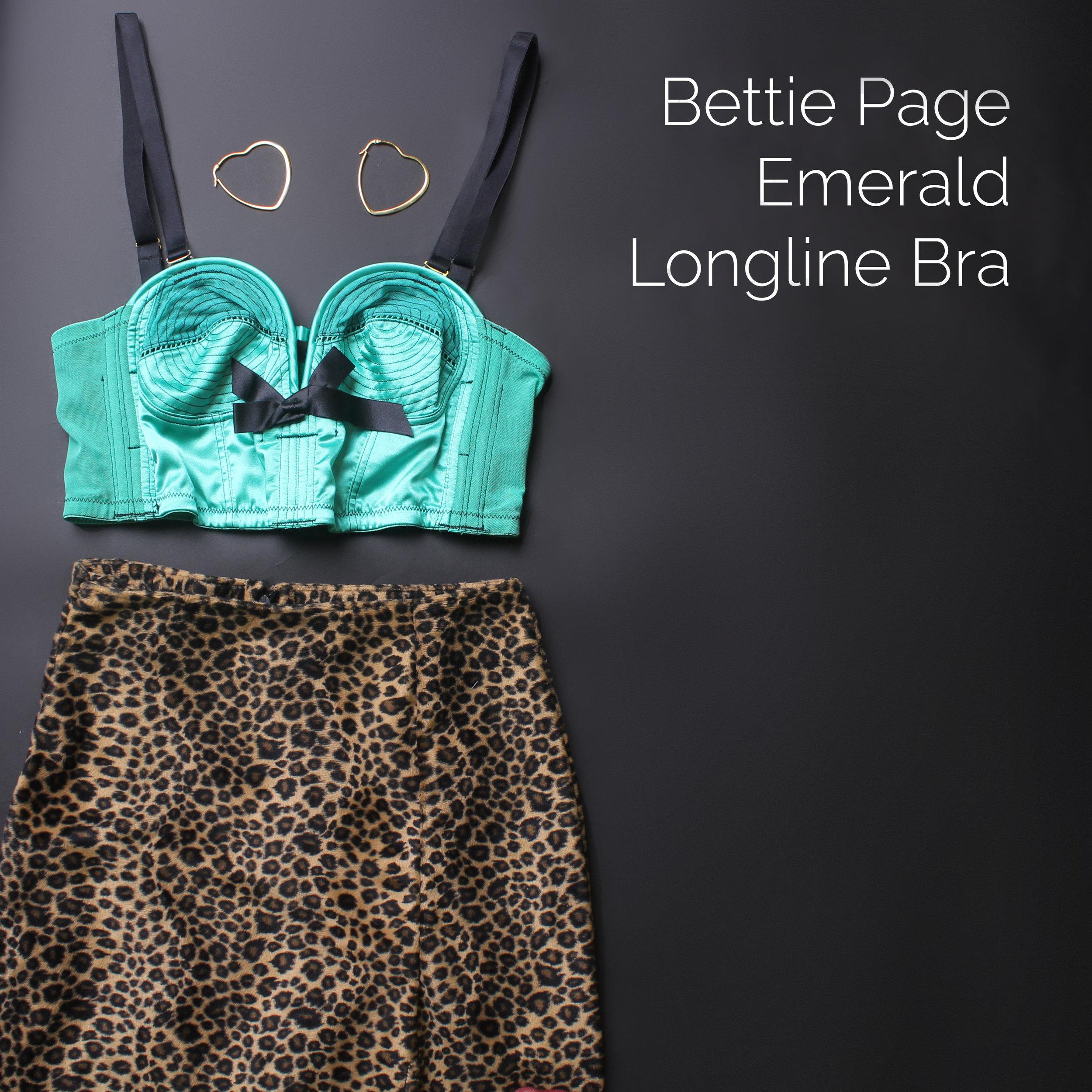 Bettie Page Emerald Longline Bra.jpg