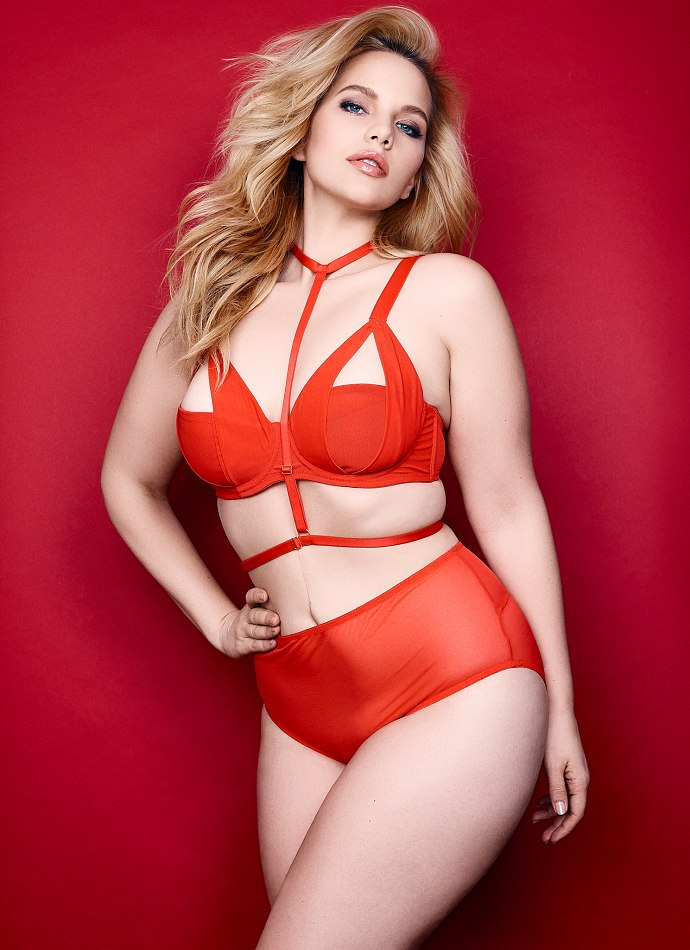 Elly Mayday wearing our  Juliet Red set , shot by  Rafael Clamente with MUA by  Alyssa Lorraine