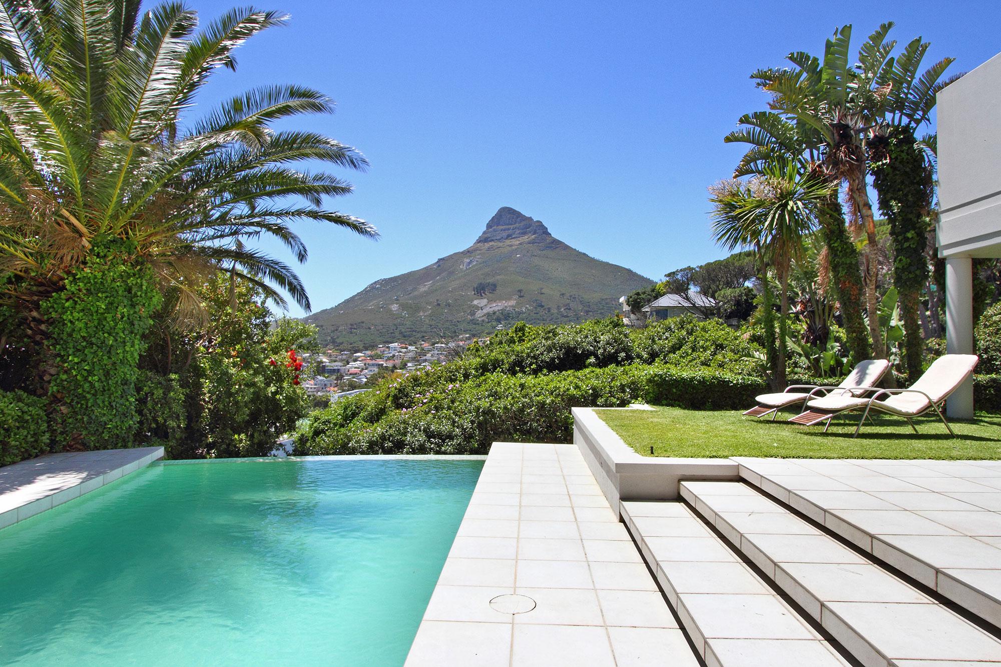Pool terrace looking towards Lion's Head