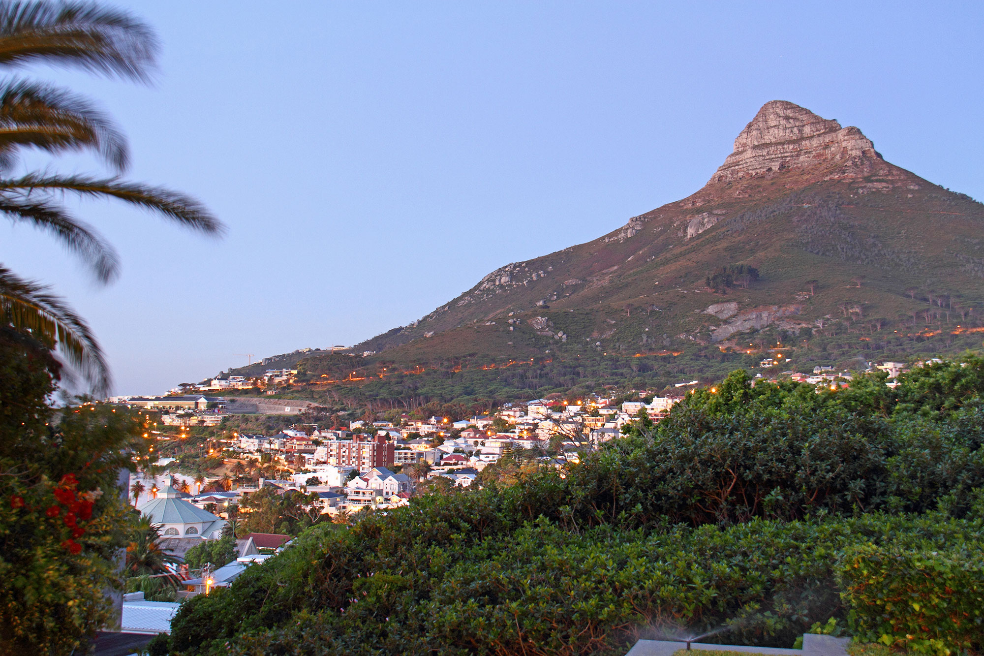 Lion's Head from the pool terrace