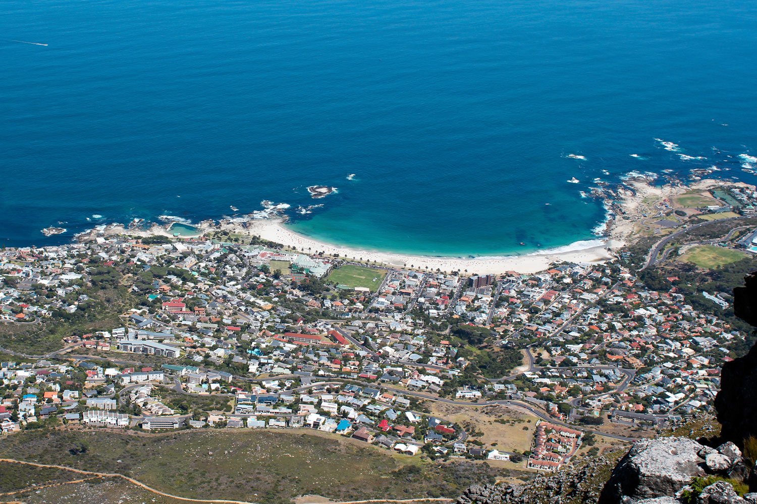 Camps Bay from the top of Table Mountain