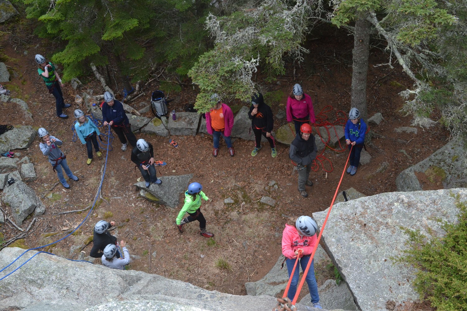 Learning to rock climb and belay requires good communication and trust