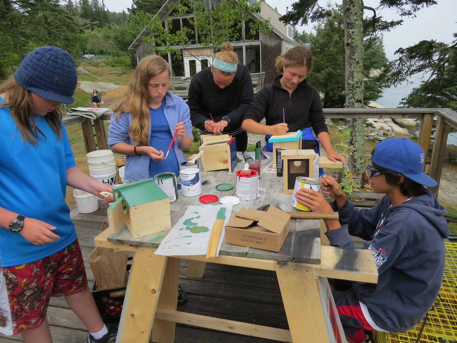 Students build birdhouses. Click through for more photos from the program.