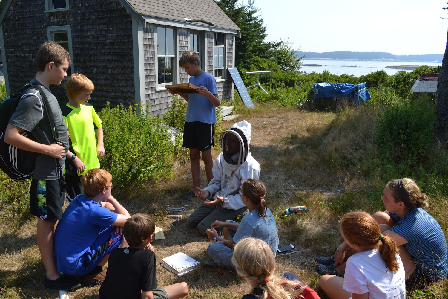 Learning about bees with Sam, click to see the full photo gallery from the program.