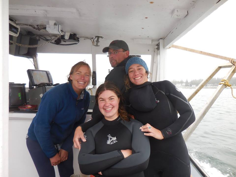 The Scallop Crew! (Left to right: Cait Cleaver, Bailey Mortiz, Erik Waterman, and Phoebe Jekielek)