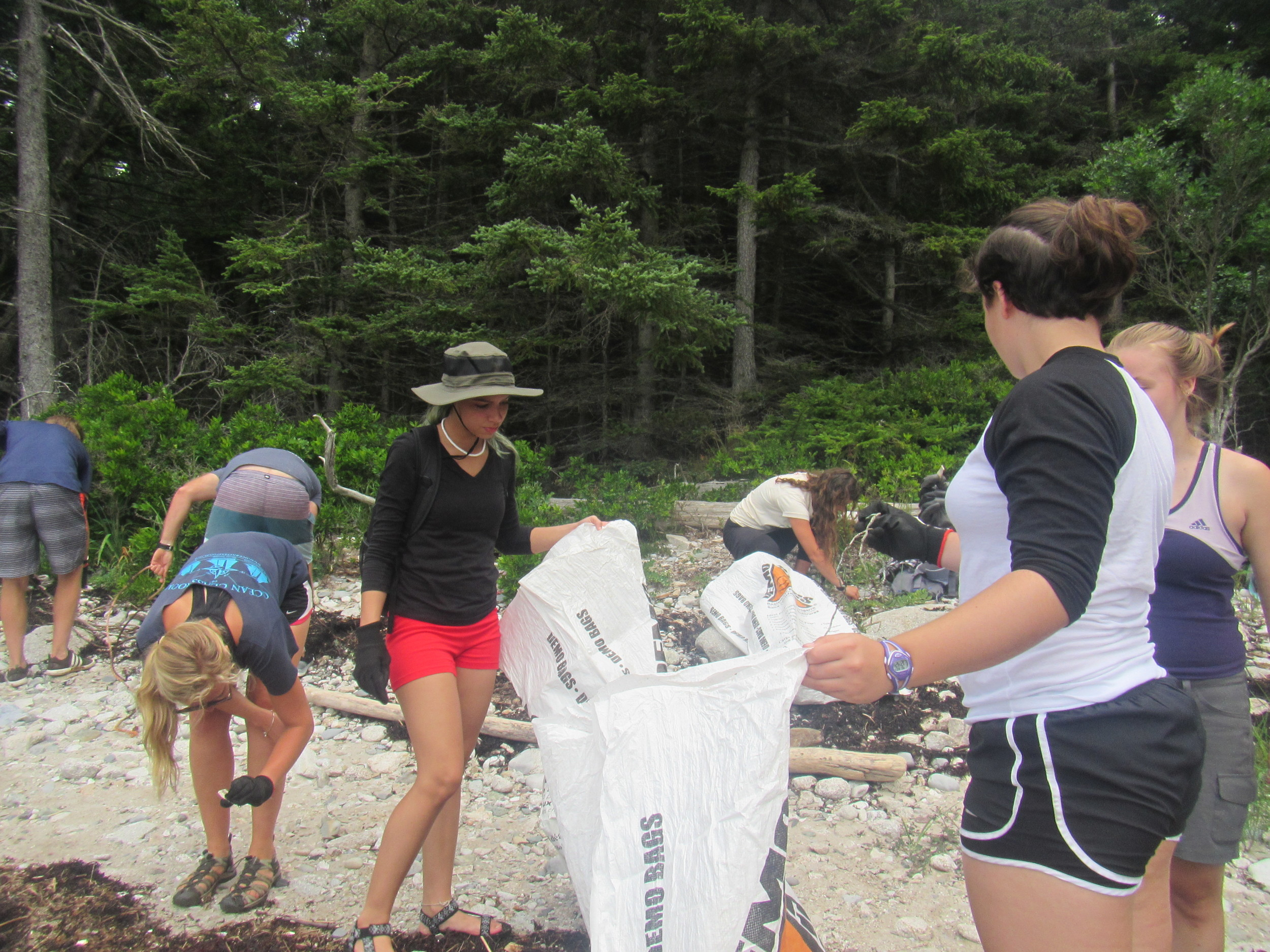 Everyone scavenging for even the smallest bits of trash on Greens Island