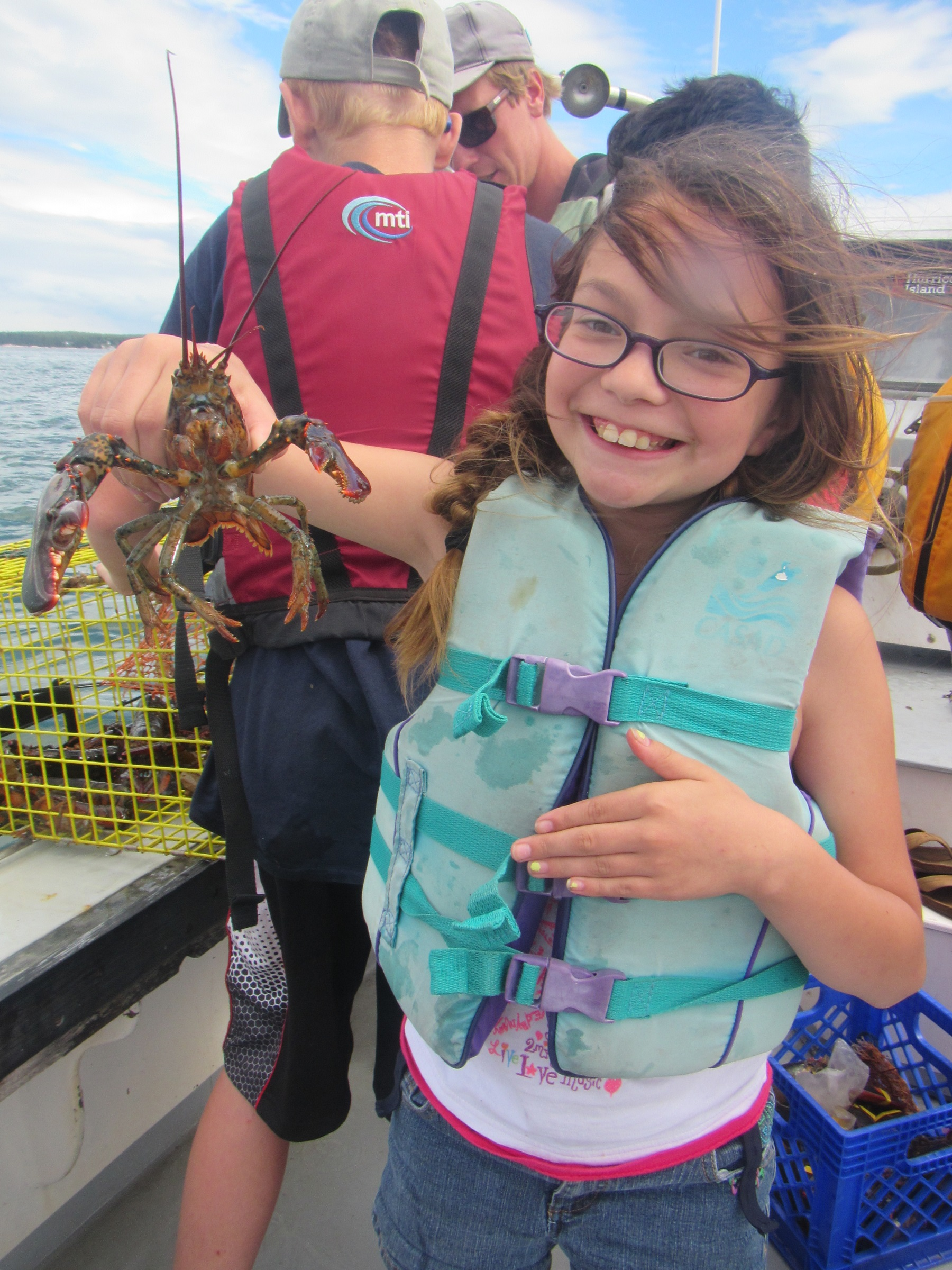 Fun on the lobster boat