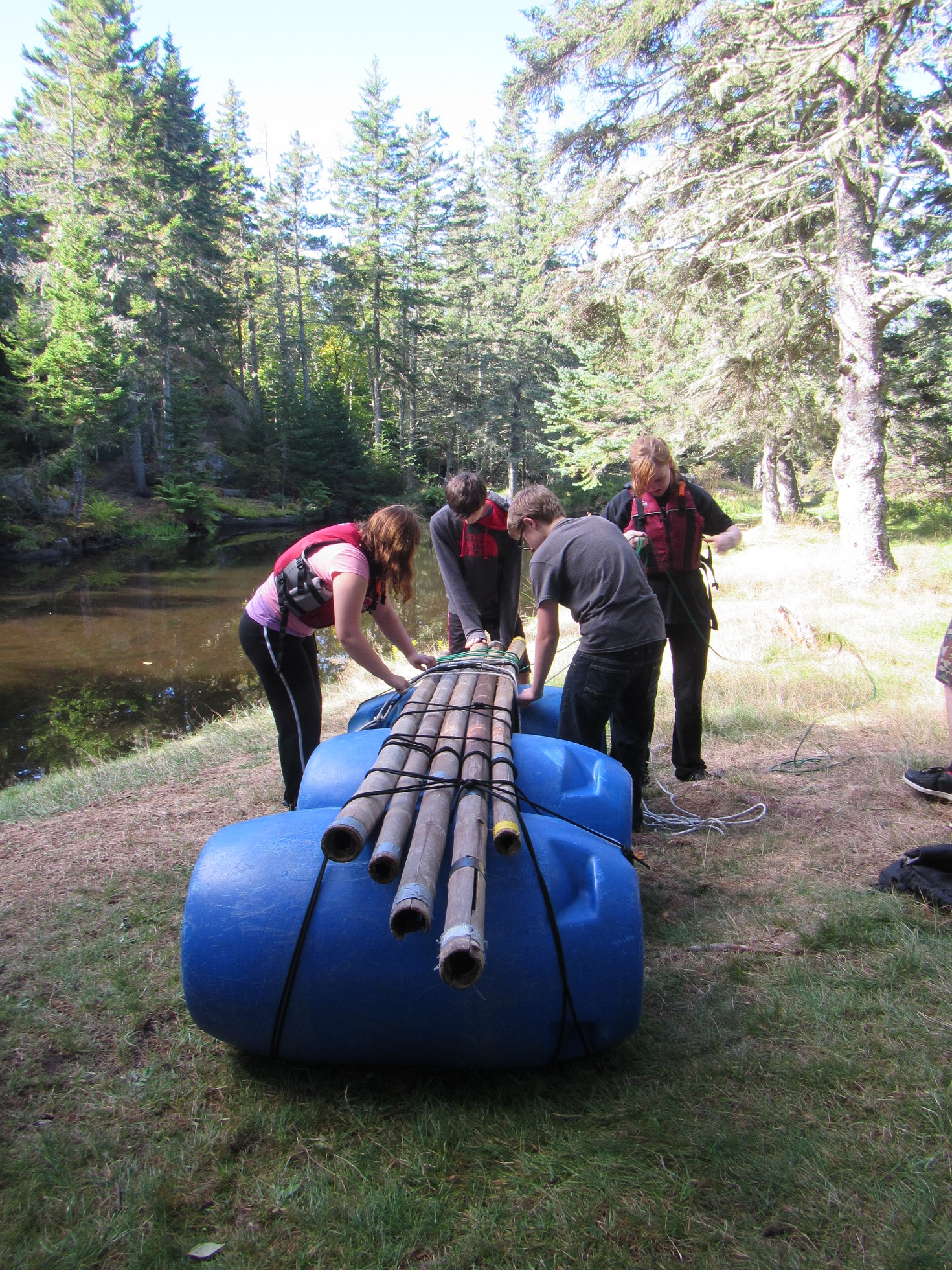 Final touches before launching the raft