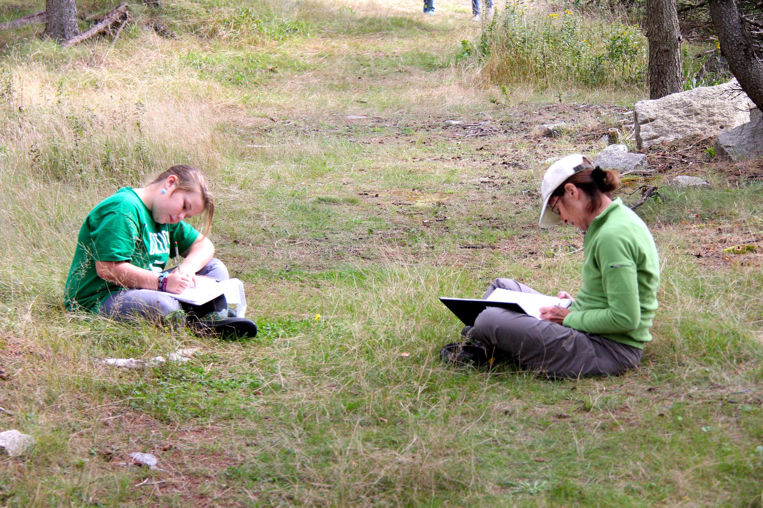 Journaling on Hurricane Island