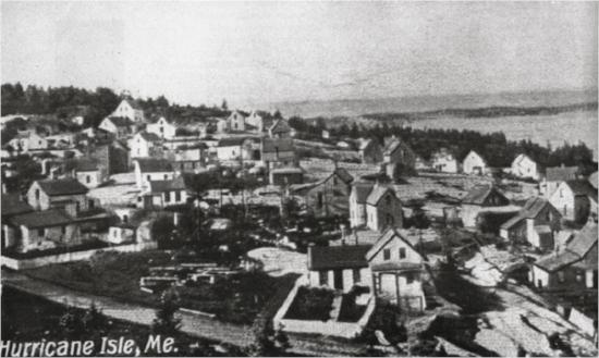 Town of Hurricane Island  Photo Courtesy of Eleanor Motley Richardson, Hurricane Island: The Town That Disappeared