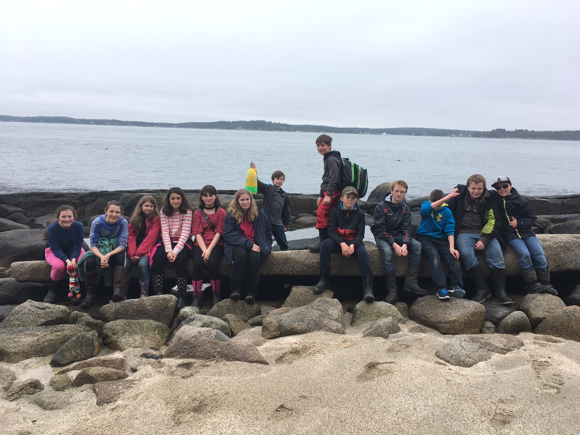 Northport students on Hurricane Island!