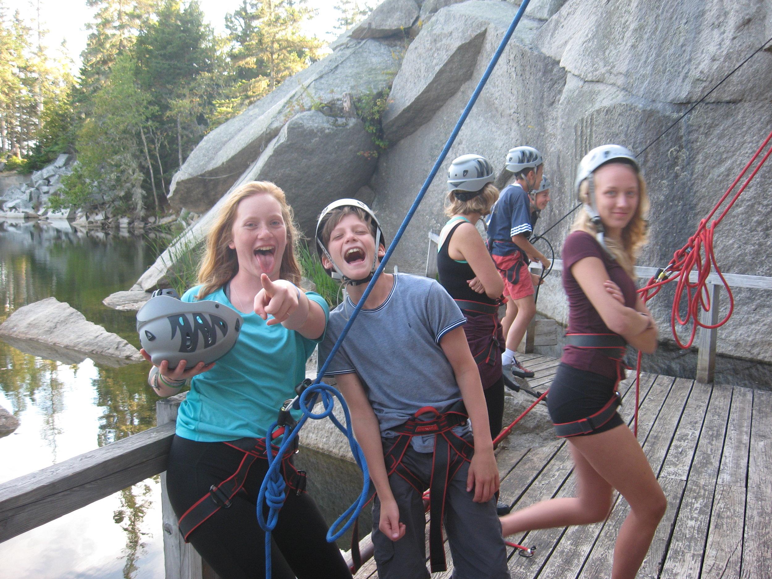- Fun at the climbing wall!