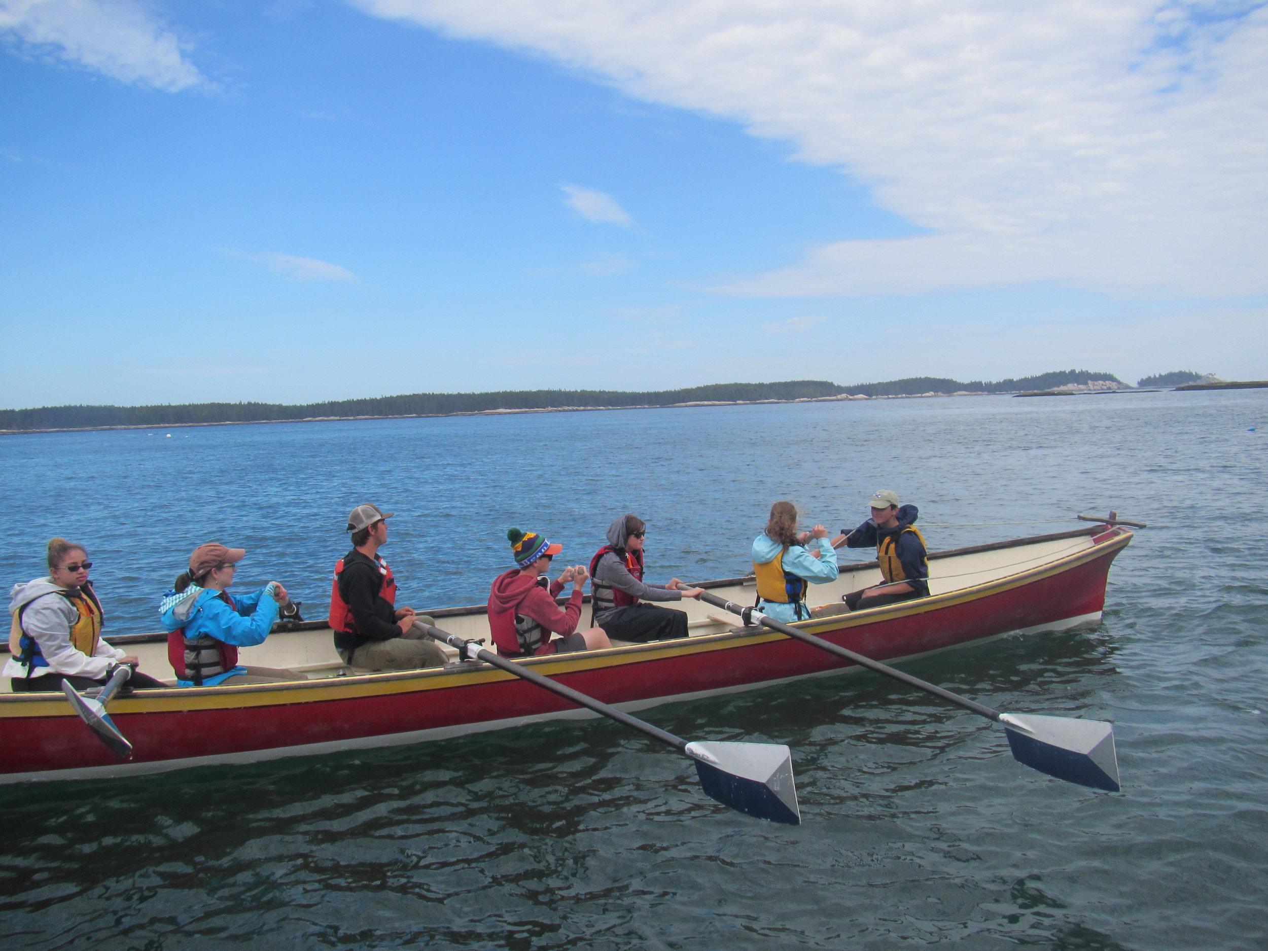 Scenic rowing in Penobscot Bay