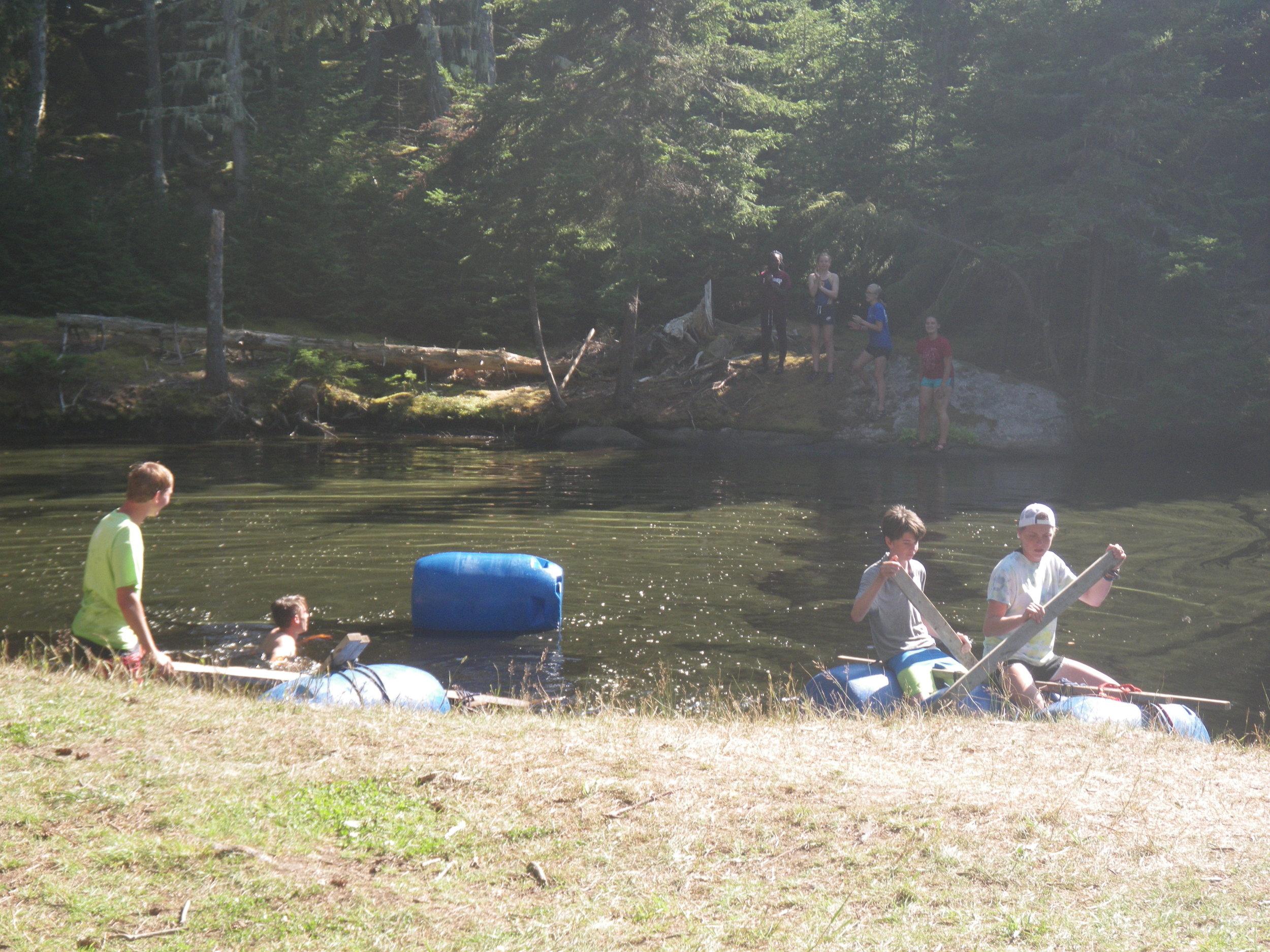 The raft challenge juxtaposition.
