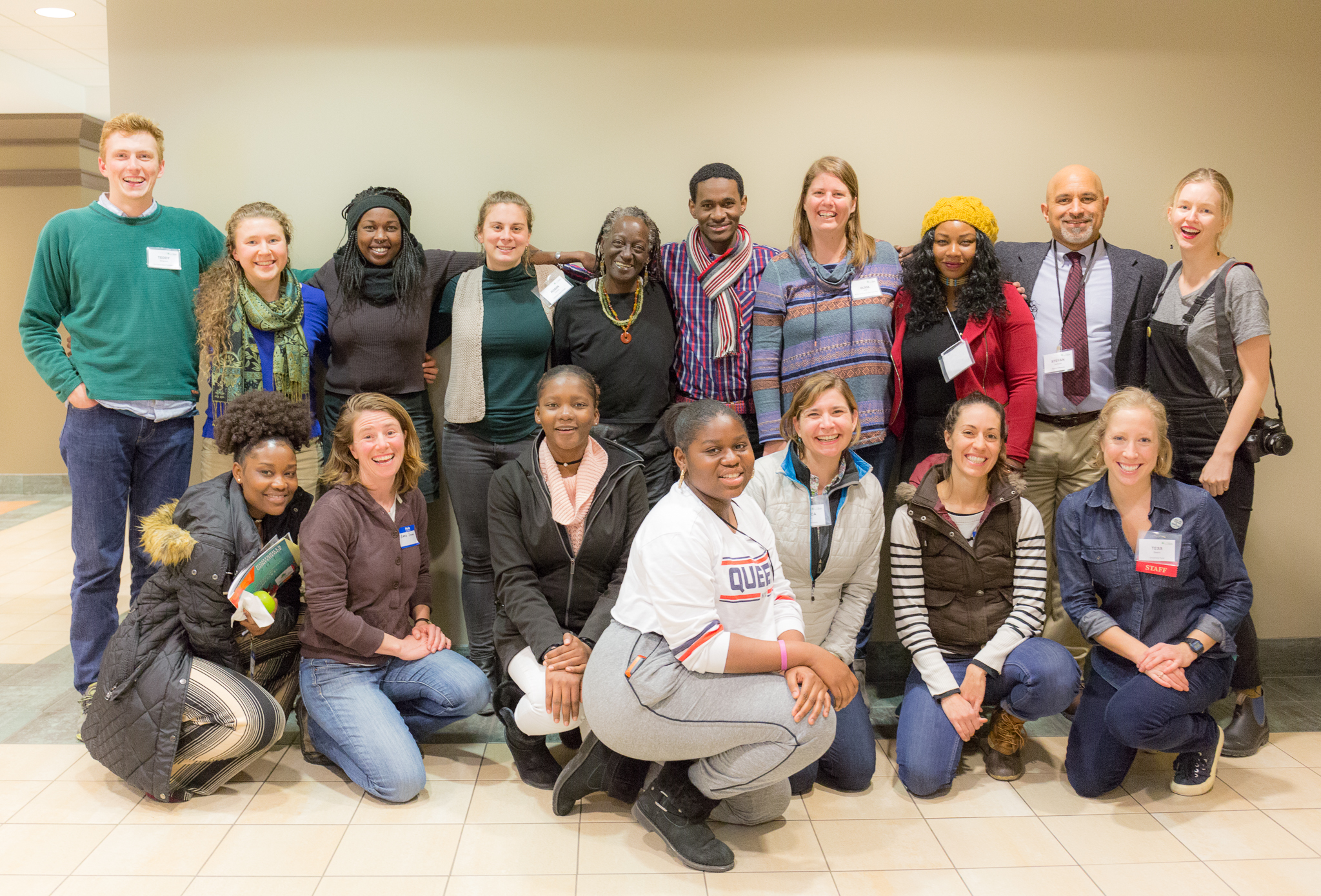 Teddy (back left), Robin (back row, fourth from left), and Maine Changemakers pause for a photo-op at the conference. Photo courtesy of  Future Focus Media Co-op .