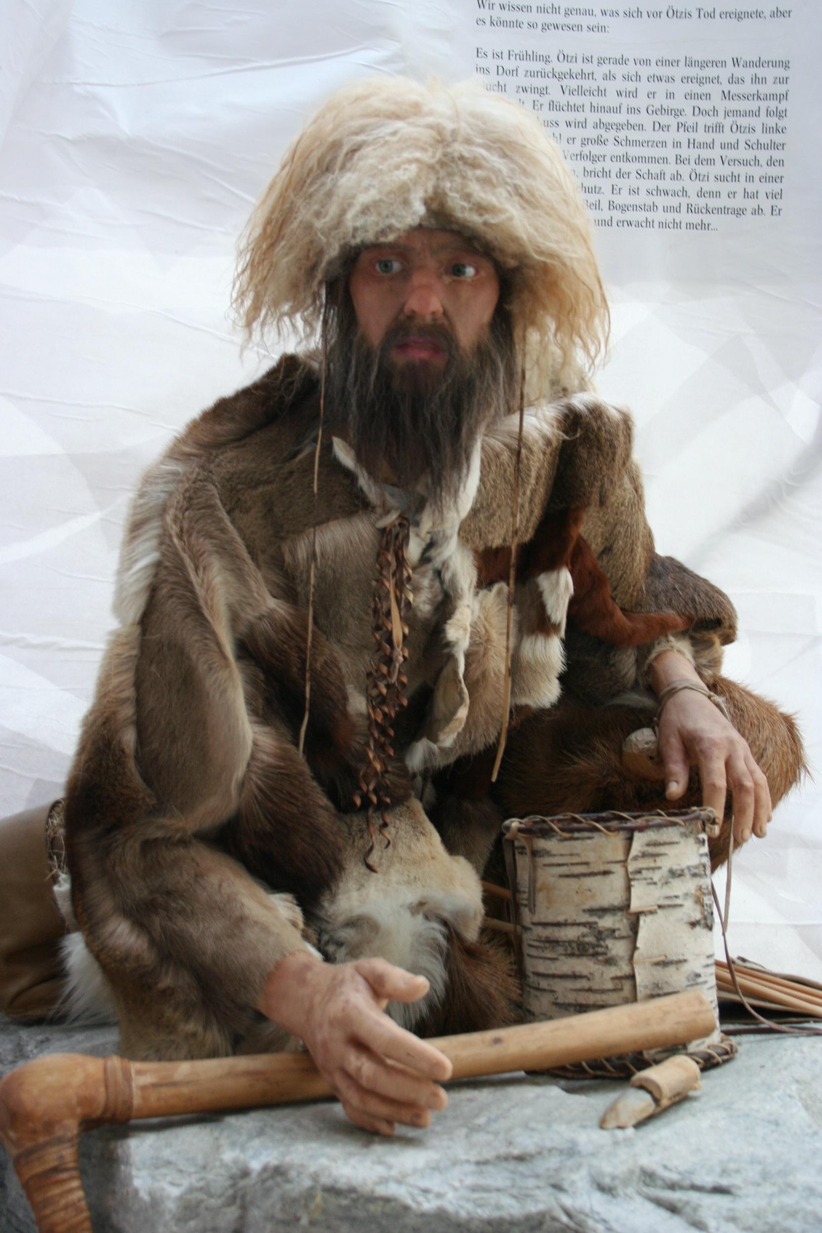 Ötzi – l'homme dans la glace.