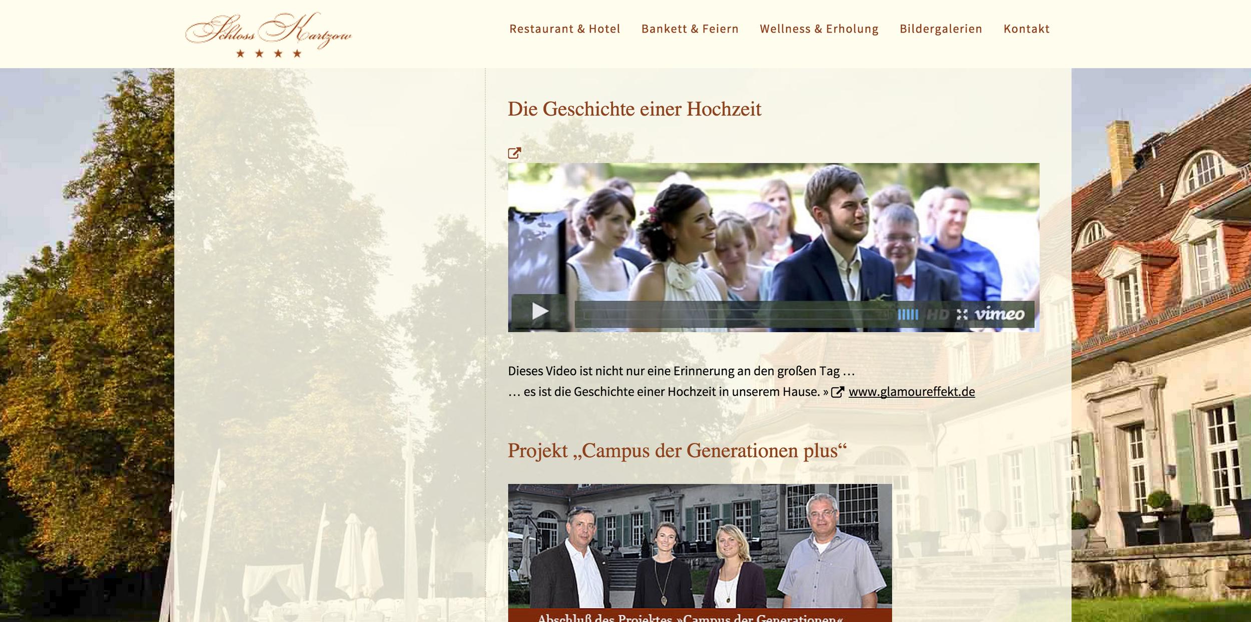 Unser Hochzeitsvideo auf Schloss Kartzow mitMaria & Basti