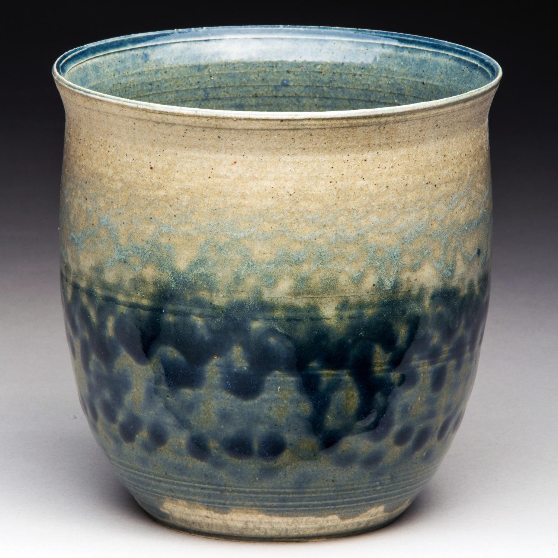 """Rain Off The Eaves"", Stoneware Vase, 12cm Tall x 11.5cm Diameter (4.75"" x 4.5"")"