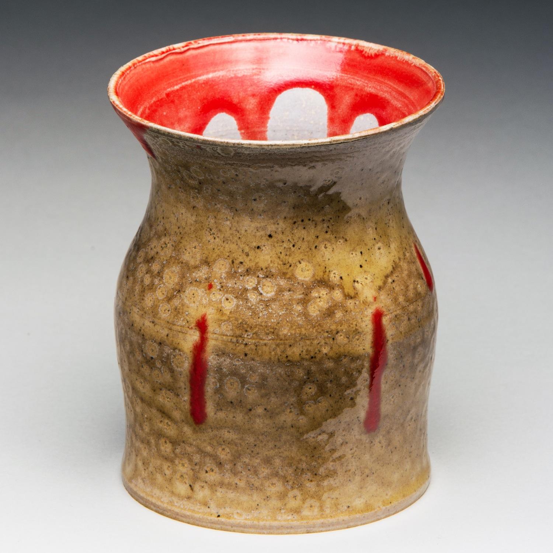 """Lipstick Monster"", Stoneware Vase, 12cm Tall x 8.25cm Diameter (4"" x 3.25"")"