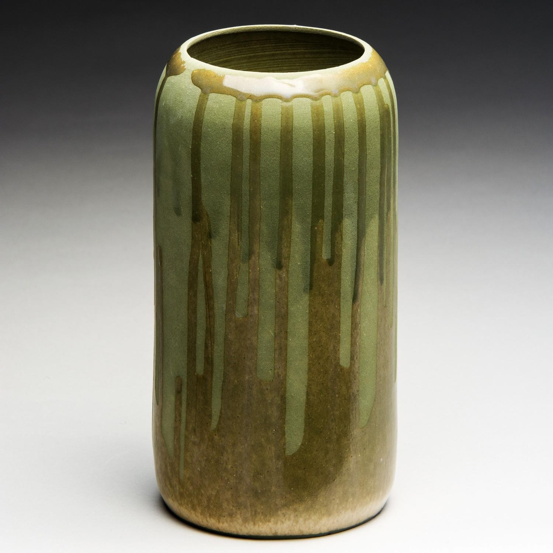 """Growth"", Stoneware Planter, 18.5cm Tall x 12cm Diameter (7.25"" x 4.75"")"