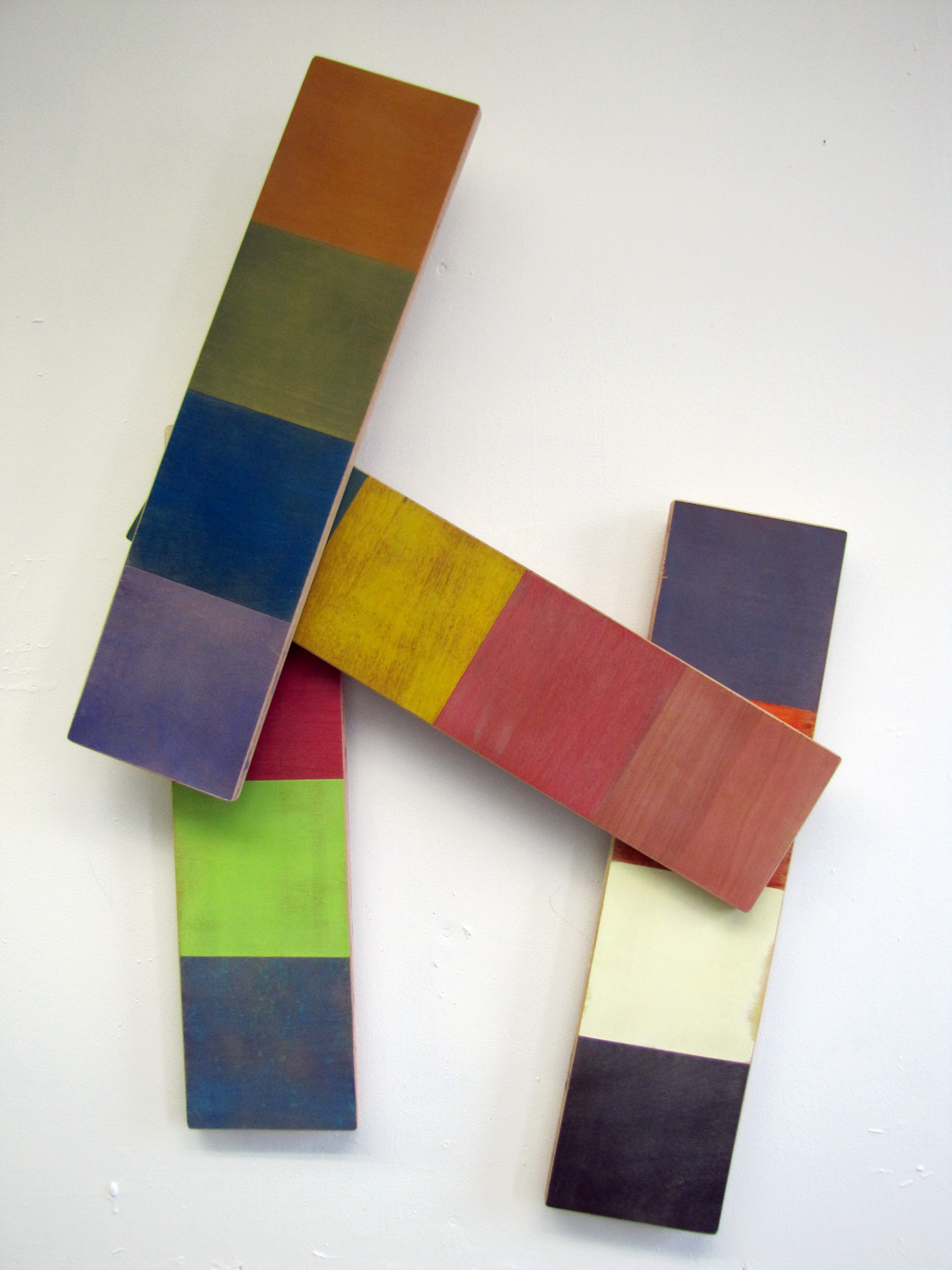 Reconfiguration _ Tempera on Birch Panel _ Dimensions Variable _ 2013